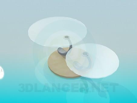 modelo 3D Mesa con dos tapas redondas - escuchar