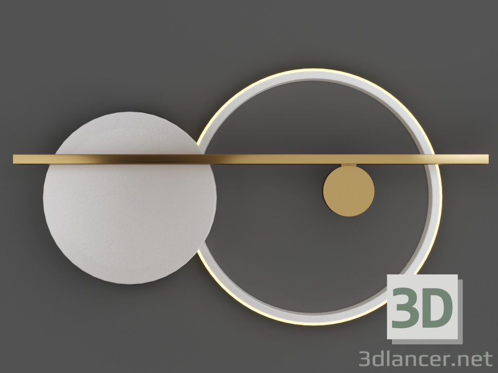 3d model Round White 44.4680 - preview