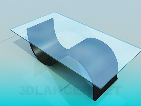 3d модель Стіл на оригінальній опорі – превью