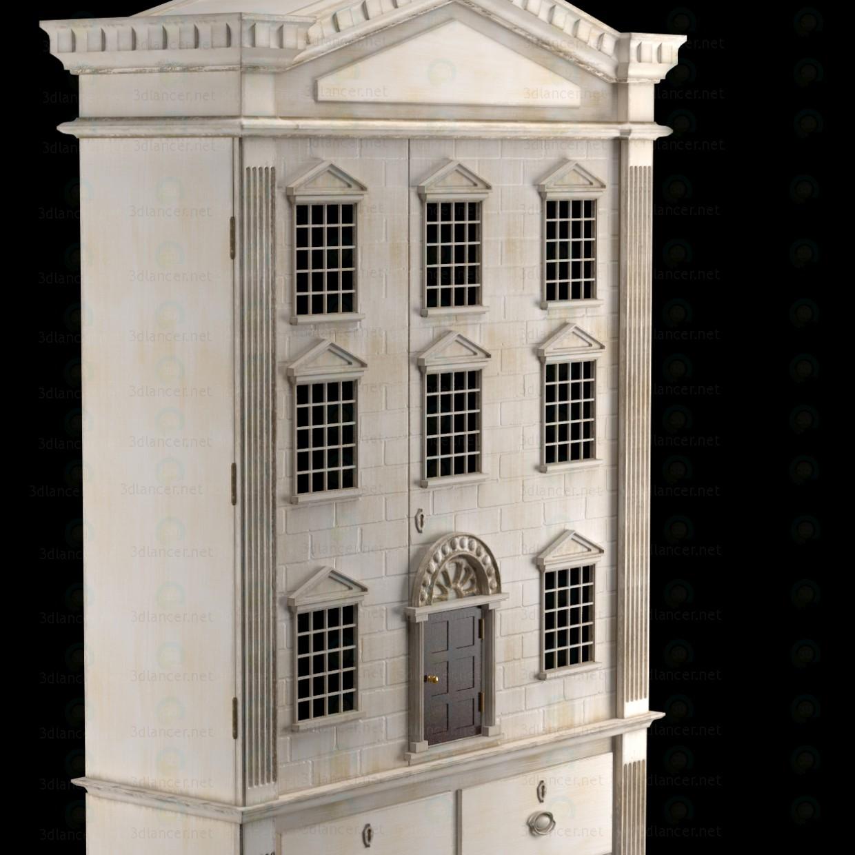 3d Кукольный дом ШКАФ модель купить - ракурс