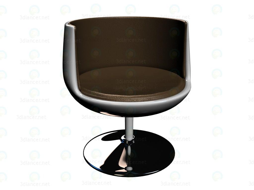 3d моделирование Кресло Club 54 Vintage модель скачать бесплатно