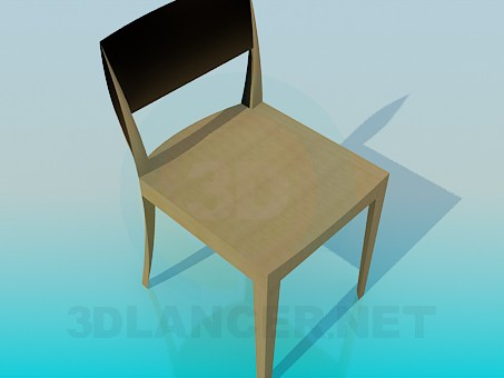 3d model Silla de madera - vista previa