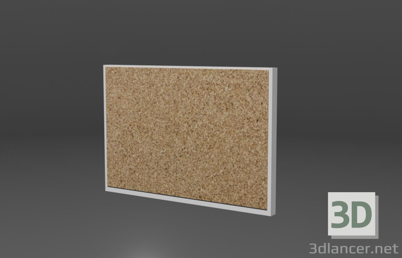 3d Cork board model buy - render