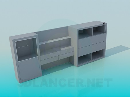 3d model Modern sideboard - preview