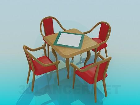 descarga gratuita de 3D modelado modelo Una mesa en el café