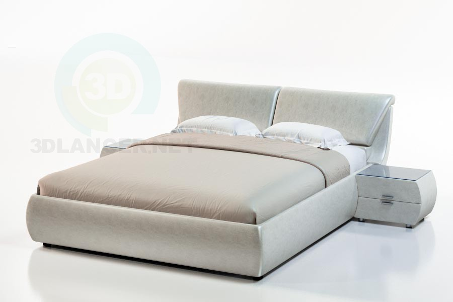 3d model Bali bed-2 - preview