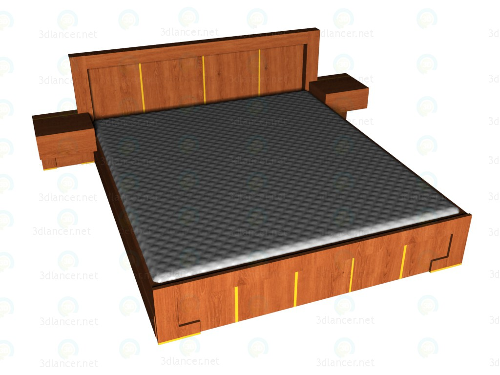 3d model Bed 180x200 - preview
