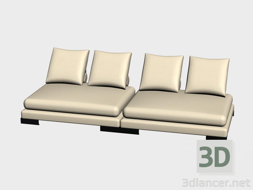 Modelo 3d Modular Sofá sitio (II-variante) del fabricante ...