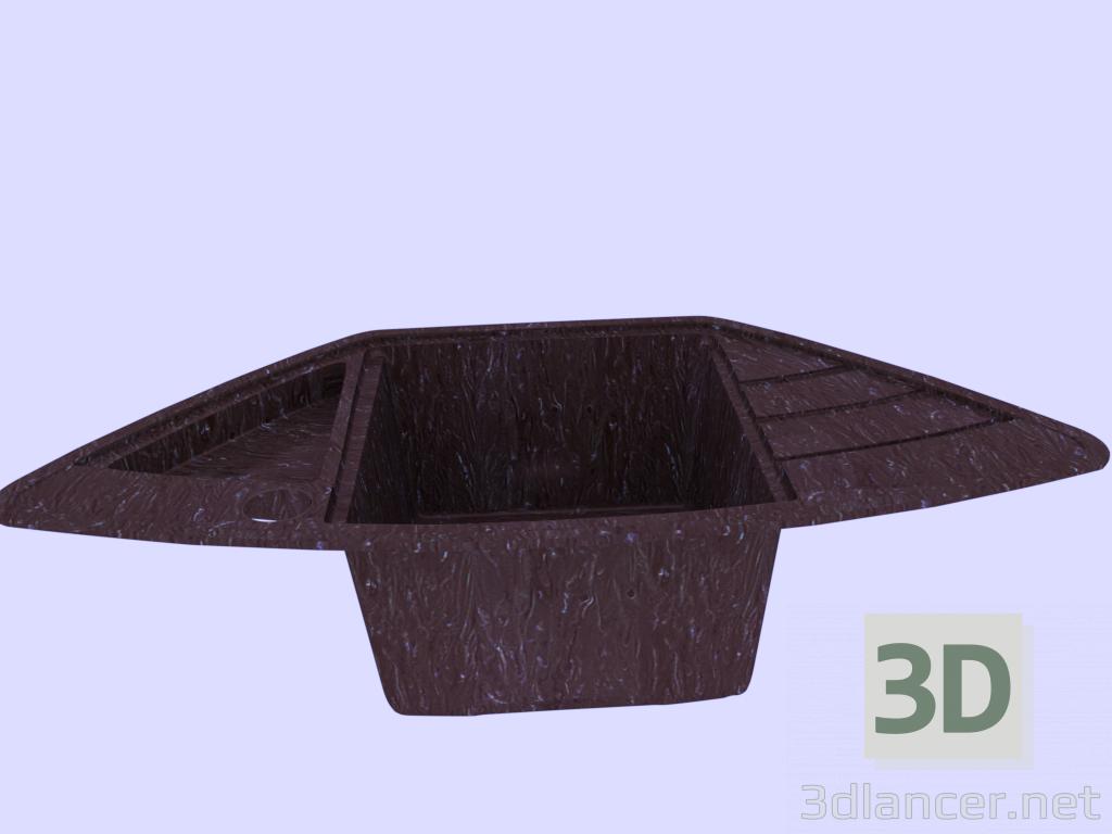 3 डी मॉडल रसोई सिंक - पूर्वावलोकन