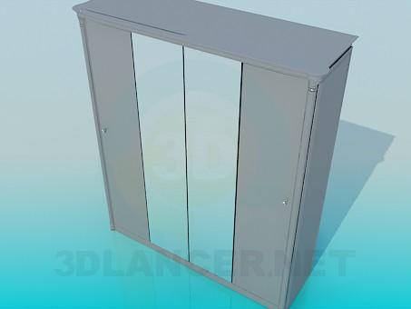 3d модель Шкаф с зеркалами – превью