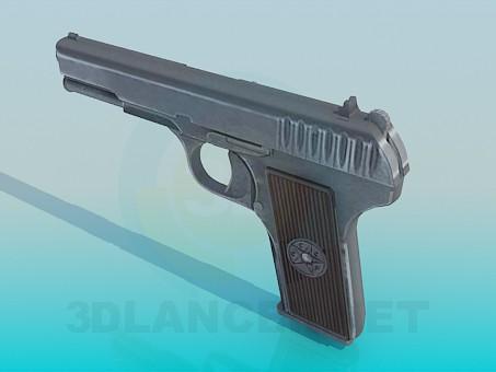 modelo 3D Pistola TT-33 - escuchar