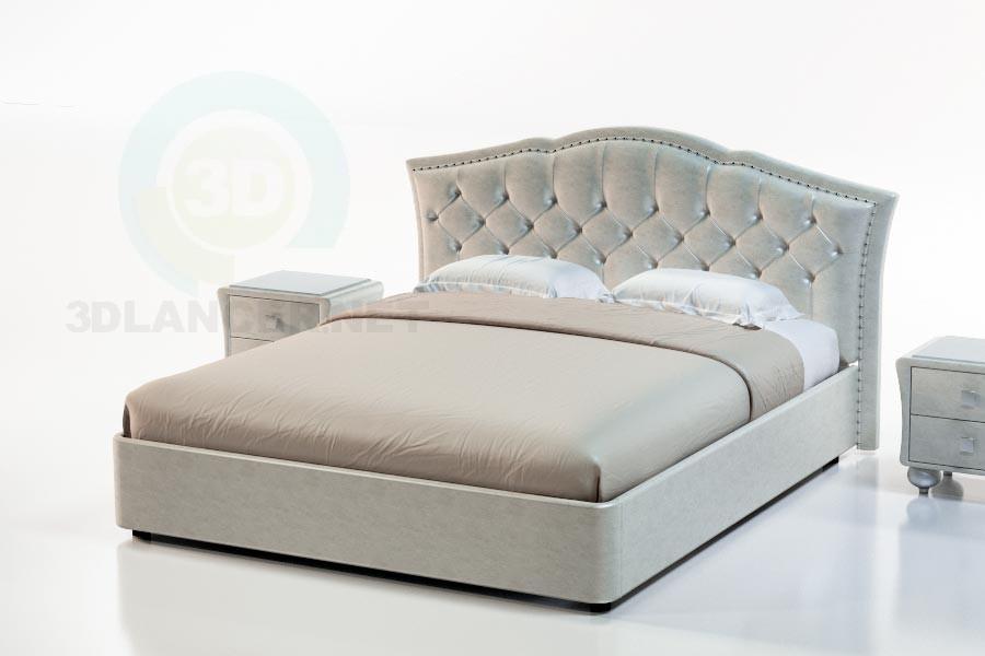3d моделирование Кровать Бергамо модель скачать бесплатно