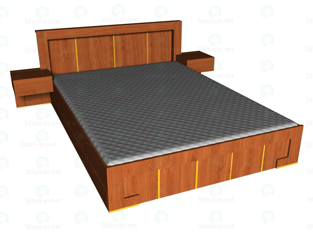 3d model Bed 160x220 VOX - preview