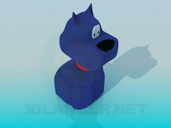The blue dog toy