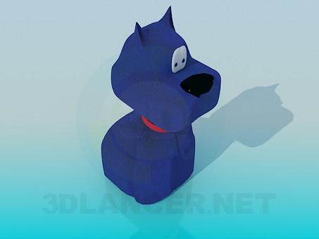 descarga gratuita de 3D modelado modelo El juguete de perro azul