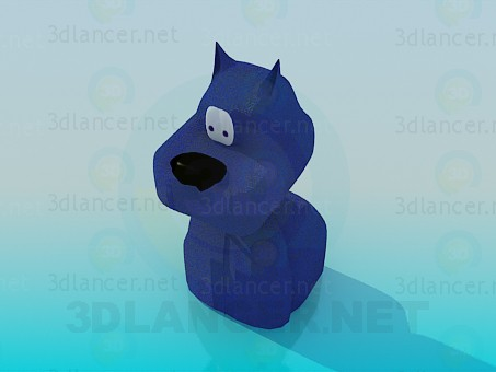 3d model The blue dog toy - preview