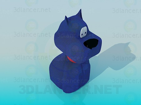 modelo 3D El juguete de perro azul - escuchar