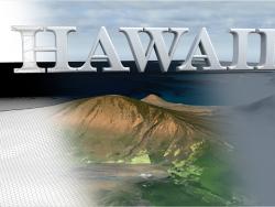 Modello di paesaggio 3D delle Hawaii
