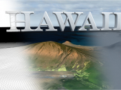 3D landscape model of Hawaii