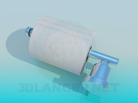 3d модель Держатель для туалетной бумаги – превью