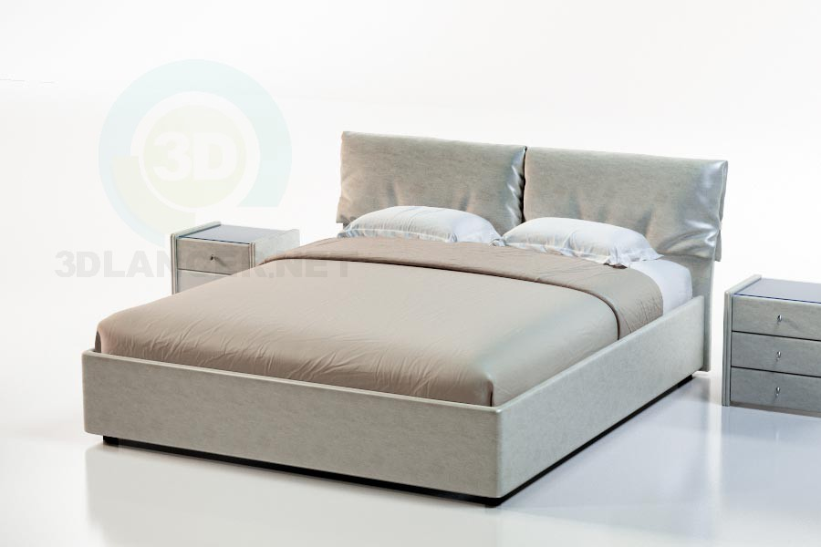 3d модель Ліжко Борнео – превью