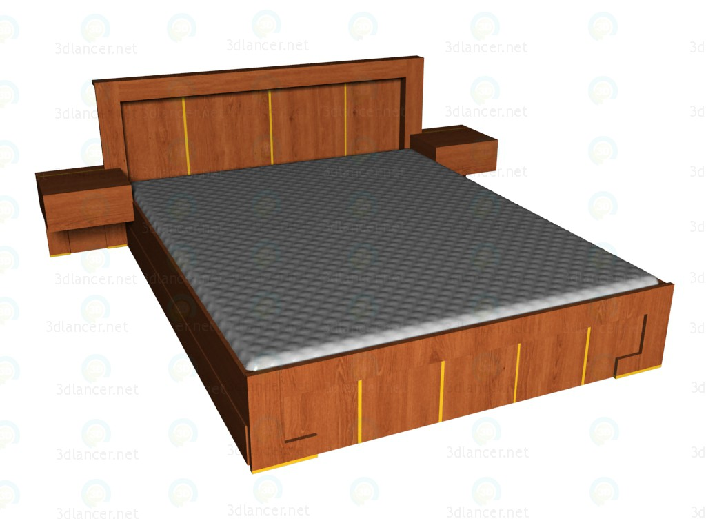 3d моделирование Кровать 160x200 модель скачать бесплатно