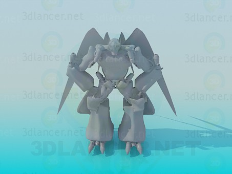 3d model Flying transformer - preview