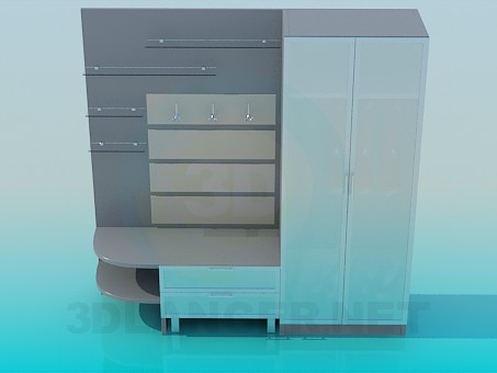 3d modell schrank im flur id 3542. Black Bedroom Furniture Sets. Home Design Ideas