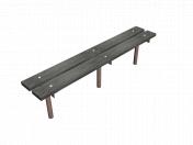 Bench Wooden Metal 01