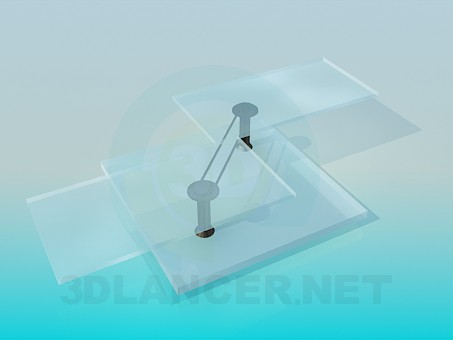 3d model Glass coffee table in high-tech style - preview