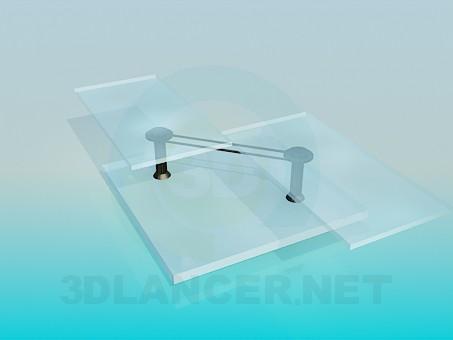 3d модель Стеклянный журнальный столик в стиле хай-тек – превью