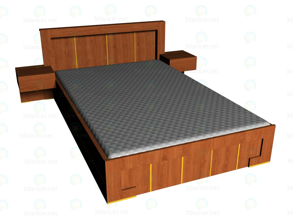 3d model Bed 140/220 - preview