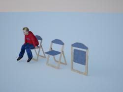 खुलने और बंधनेवाली कुर्सी