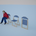 Modelo 3d Cadeira dobrável - preview