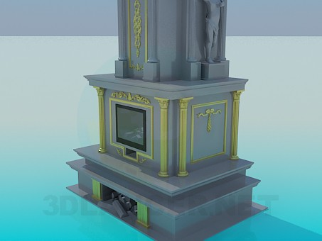 3d model Chic fireplace - preview