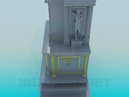 modelo 3D Chimenea elegante - escuchar