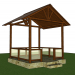 3d model summer house - preview