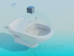 Toilette mit Spülung Box integriert in Wand