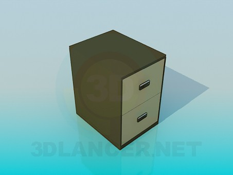 3d model Cabinet for documents - preview