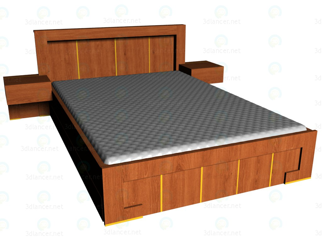 3d model Bed 140 x 200 VOX - preview