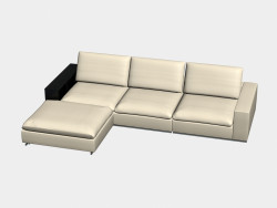 Sofa modular angular (with shelves) Portland
