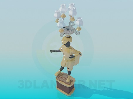 3d model Candlestick in the form of human - preview