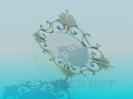 3d модель Зеркало настенное – превью