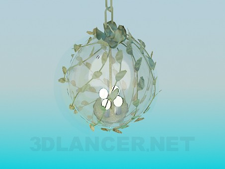 3d modeling Spherical chandelier with branches model free download