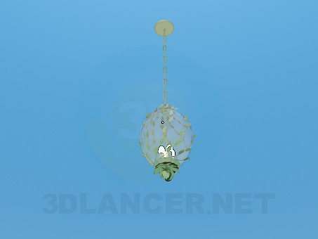 3d модель Шаровидная люстра с плетущимися ветвями – превью