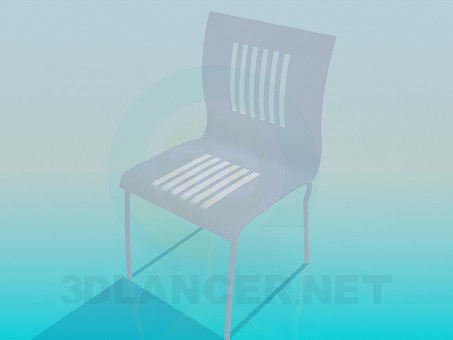 3d model Chair with bars on the back - preview
