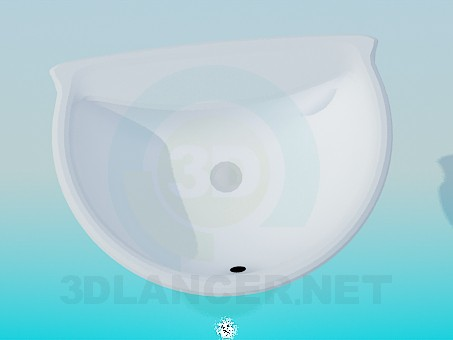 3d model Half round wash basin - preview
