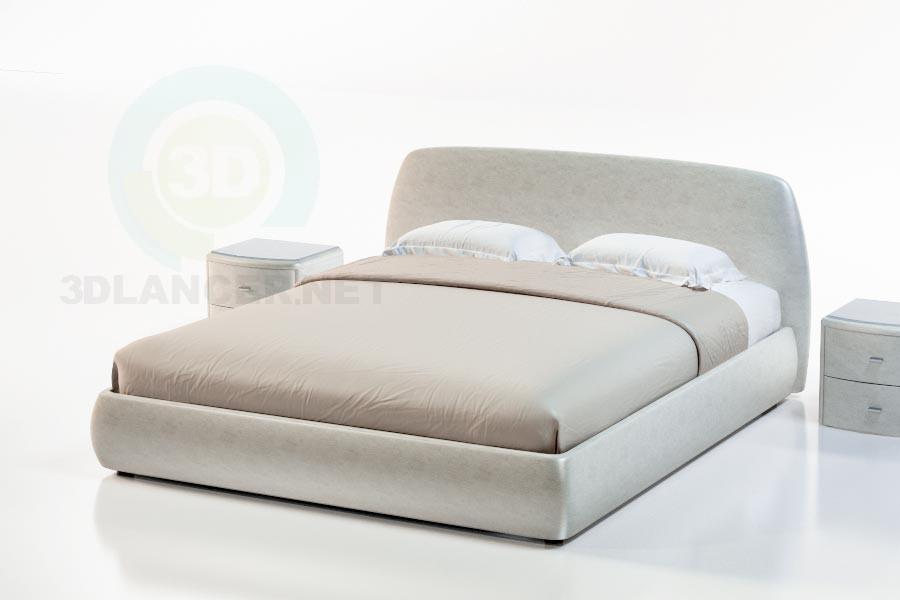 3d модель Ліжко Комино – превью