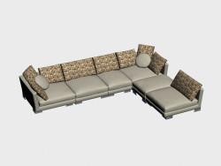 Canapé d'angle TN (III-variante)