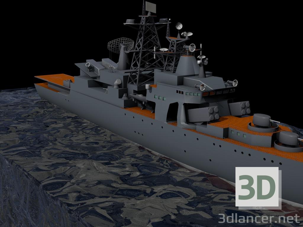 3 डी युद्धपोत मॉडल खरीद - रेंडर